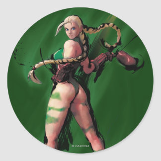 Cammy Turn Classic Round Sticker