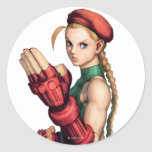 Cammy With Hand Up Classic Round Sticker