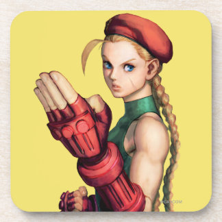 Cammy With Hand Up Drink Coaster