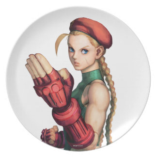 Cammy With Hand Up Party Plate