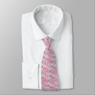 Camo Abstract Pink Pattern Tie