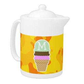Camo amarillo ambarino; Cono de helado