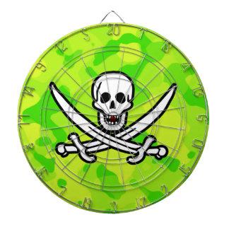 Camo amarillo verde de neón; Pirata Tabla Dardos