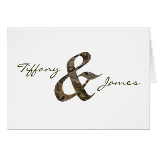 Camo Ampersand Note Card