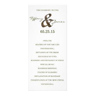 Camo Ampersand Wedding Program Rack Card