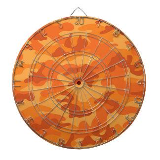 Camo anaranjado camuflaje tabla dardos
