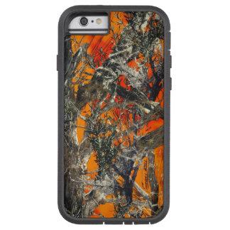 Camo anaranjado pesado funda de iPhone 6 tough xtreme