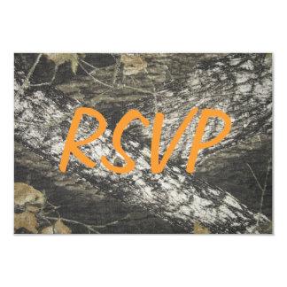 """Camo anaranjado RSVP Invitación 3.5"""" X 5"""""""