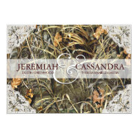 Camo and White Lace Wedding Invitation 5&quot; X 7&quot; Invitation Card (<em>$2.01</em>)