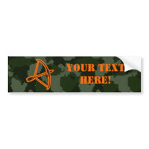 Camo Archery Bumper Sticker
