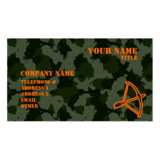 Camo Archery Business Card