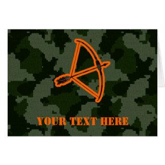 Camo Archery Card