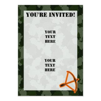Camo Archery 5x7 Paper Invitation Card