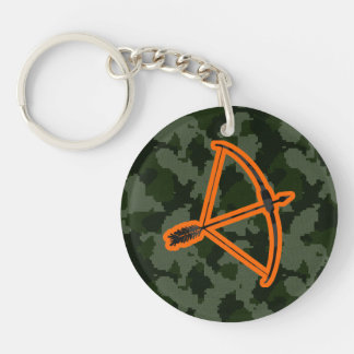 Camo Archery Double-Sided Round Acrylic Keychain