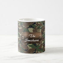 camo army brown and green personalized coffee mug