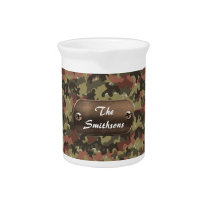 camo army brown and green personalized pitcher