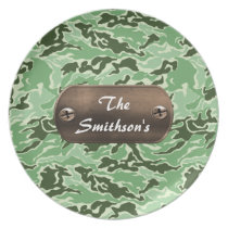 camo army brown and green personalized plate