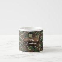 camo army brown personalized espresso cup