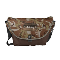 camo army brown  personalized messenger bag