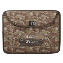 camo army brown  personalized sleeve for MacBook pro