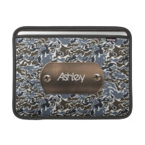 camo army gray personalized sleeve for MacBook air