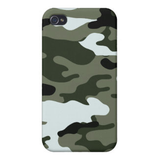 Camo Army Green Black White Speck Case iPhone 4