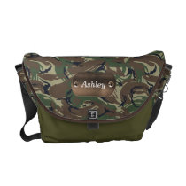 camo army green personalized courier bag