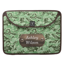 camo army green personalized sleeve for MacBook pro