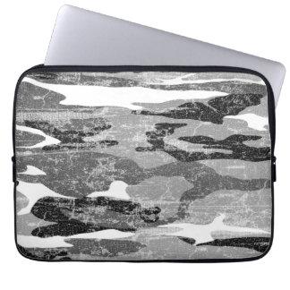 Camo ártico descolorado manga computadora