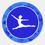 Camo azul; Ballet del camuflaje Pegatinas Redondas