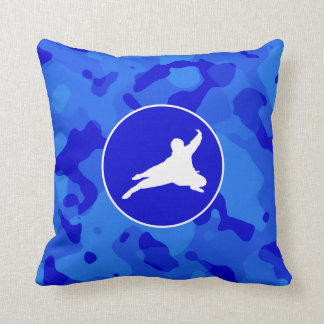 Camo azul; Camuflaje Ninja Cojín