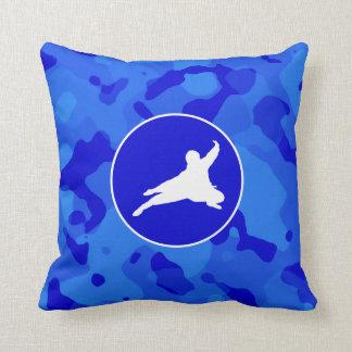 Camo azul; Camuflaje Ninja Cojines