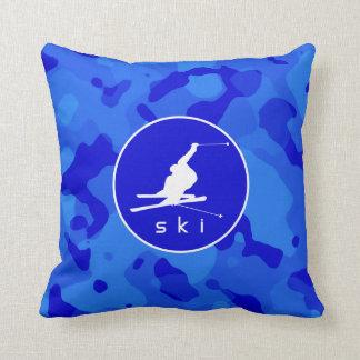 Camo azul; Esquí de la nieve del camuflaje Cojín