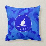 Camo azul; Esquí de la nieve del camuflaje Cojines
