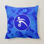 Camo azul; Fútbol del camuflaje Almohada