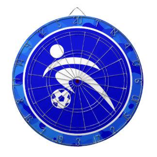Camo azul Fútbol del camuflaje Tablero Dardos