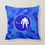 Camo azul; Hockey del camuflaje Almohadas