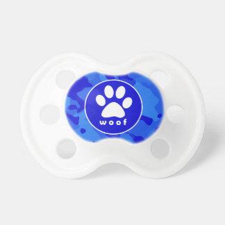 Camo azul; Impresión de la pata Chupetes Para Bebes