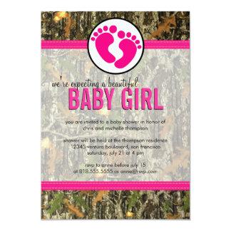 Camo - Baby Girl Shower Invitation