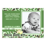 "Camo Baby/ Green 5"" X 7"" Invitation Card"