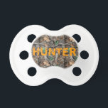 """Camo Baby Pacifier w/ Personalized Name<br><div class=""""desc"""">Camo Baby Pacifier w/ Personalized Name</div>"""