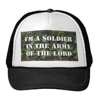 """Camo Background """"Soldier In The Army Of The LORD"""" Trucker Hat"""