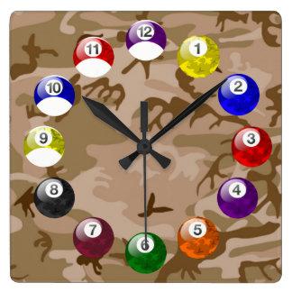 Camo Ball/Felt Pool Clock - Desert Storm Edition