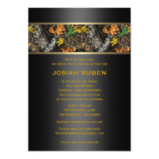 Camo Bar Mitzvah Invitations