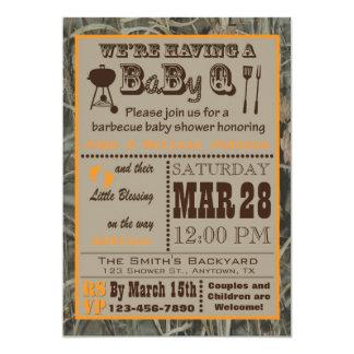 Camo Barbecue BabyQ Baby Shower Card