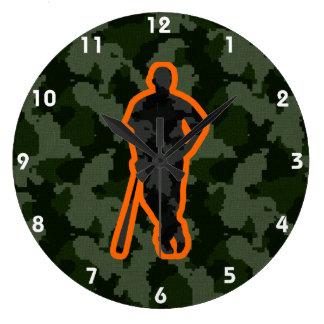 Camo Baseball Large Clock