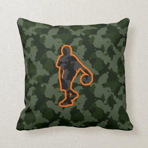 Camo Basketball Throw Pillow Zazzle