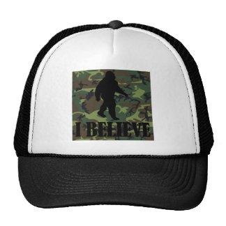 Camo Bigfoot I Believe Mesh Hat