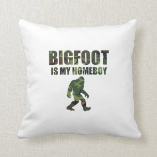 Camo Bigfoot Is My Homeboy Pillows