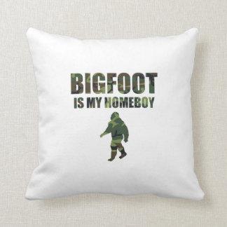 Camo Bigfoot Is My Homeboy Throw Pillow